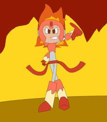 Fanmade Robot Mistress - Blaze Woman by Legacy-Galaxy