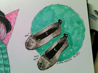 Cat Lady Shoes | INKtober 4 by aoutramafalda
