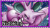 Pokemon - Nidoking Stamp by Natakiro