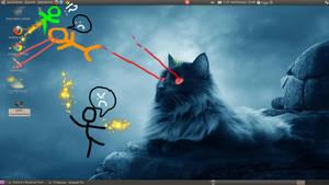 Stickfigure attack by GreenDevilCat
