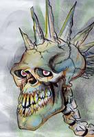 punked skull by heckthor