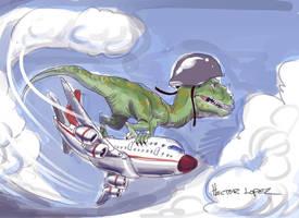 Dino plane rider by heckthor