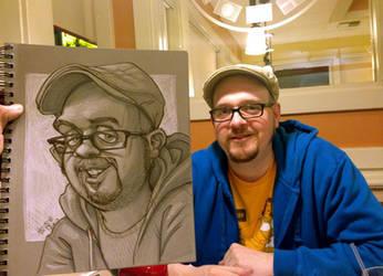 friend cartoon at IHOP by heckthor