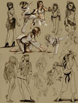 different poses by heckthor