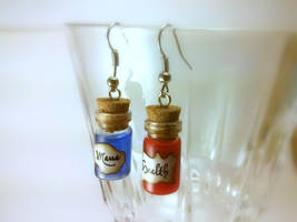Health and Mana Potion Earrings 1ml by Euphyley