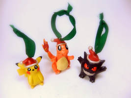 Pokemon Christmas Ornaments by Euphyley