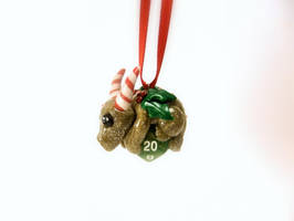 D20 Dice Dragon Christmas Ornament by Euphyley