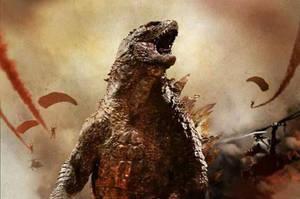 Godzilla 2014: SKREEEEEEONK!! by sonichedgehog2
