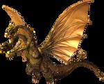 Godzilla The Video Game: King Ghidorah by sonichedgehog2