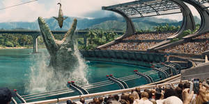 Jurassic World: Mosasaur Feeding Show by sonichedgehog2