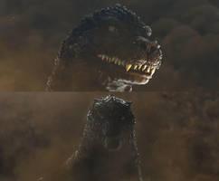 Gojira tai Godzilla by sonichedgehog2
