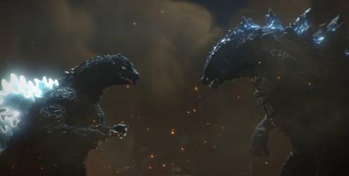 Godzilla: The Battle Heats Up! by sonichedgehog2