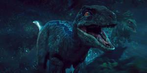 Jurassic World: Blue the Raptor by sonichedgehog2