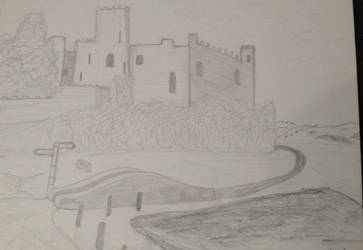 Castle Drawing by Altherius