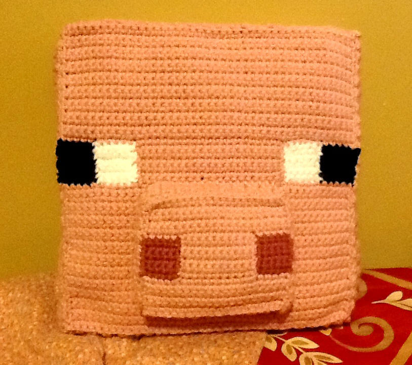 Crochet Minecraft Pig Pillow By Ghost Skittles On Deviantart
