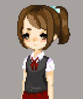 School Girl Pixel by Aninsey