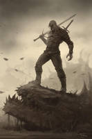 The Witcher fan art by Denchik111