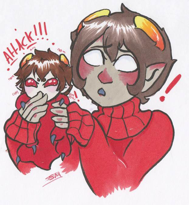 homestuck grub karkat and kankri by smabbles on deviantart