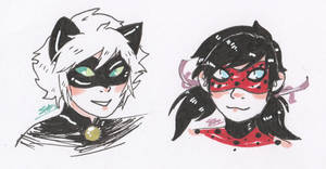 Miraculous Ladybug and Chat Noir by Smabbles