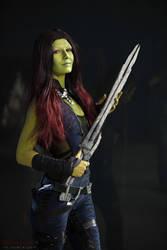 Gamora - Guardians of the galaxy by LaynesLionRedCat