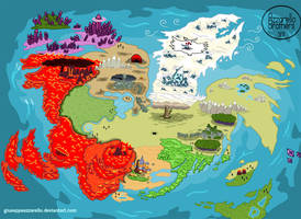 ADVENTURE TIME WORLD MAP - AFTER THE END by GiuseppeAzzarello