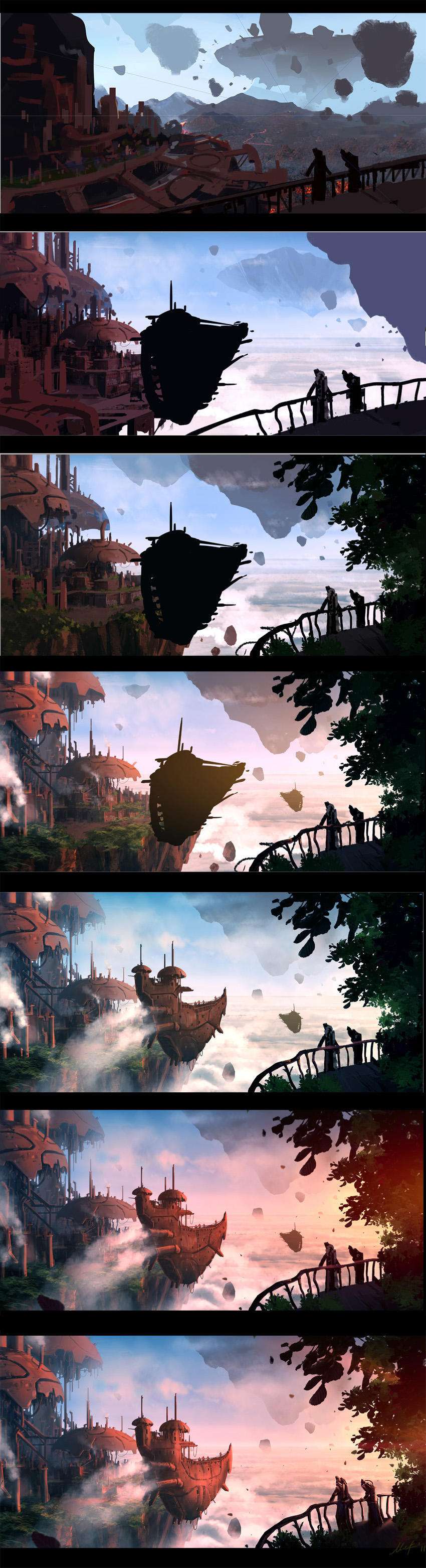 Making of 'High in the sky' by ArtistMEF