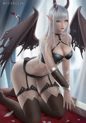 Commission: World of Warcraft Succubus by Wickellia
