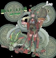 [Open] Jade dragon - adoptable auction by DEZTINIE