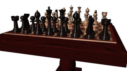 Wooden Chess - Maya by tiagogmc