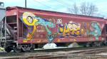Grain Car Cat Graffiti by MikeK4ICY