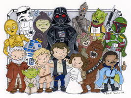 star wars characters by beckadoodles