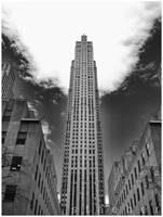 RCA Building and Sky by steeber
