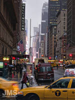 7th Avenue and 57th Street in Rain by steeber