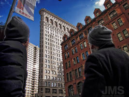 Gazing Up at Flatiron by steeber