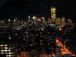 Lower Manhattan Skyline with WTC 2000 by steeber