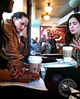 Meeting at Starbuck's by steeber