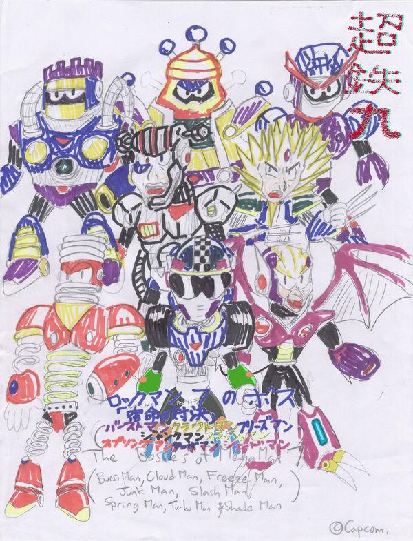 mega man 7 bosses by chotetsumaru on deviantart