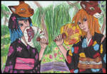 ::commission:: Kimono Girls by sorjei