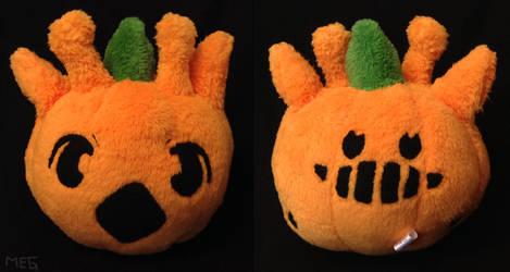 Girafarig Pumpkin by sorjei