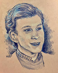 Tom Holland Portrait by Biodin