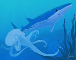 Deep blue by Inghelene