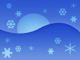 Blue Snow Wallpaper by Humble-Novice