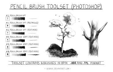 Pencil Brush Toolset Ver 1.0 (Photoshop) by altback