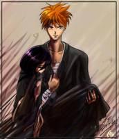 gatemush: Ichigo and Rukia by gatemush