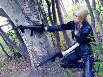 Jill Valentine resident evil battlesuit by LilituhCosplay