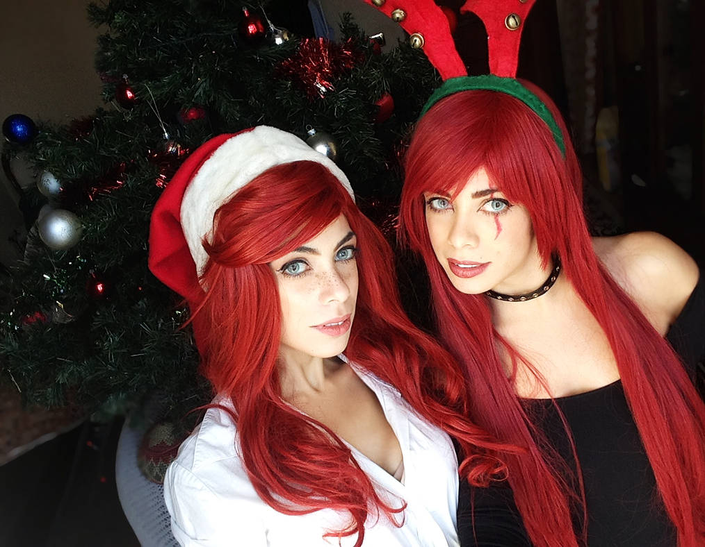 Fortune and Katarina Merry Christmas xxx by LilituhCosplay