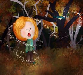 the autumn bird by popcorn-pops
