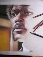 Samuel L. Jackson - WIP by andreasmichel