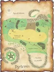 Carte de Dyrtemis (FR) by Artandcreation4you