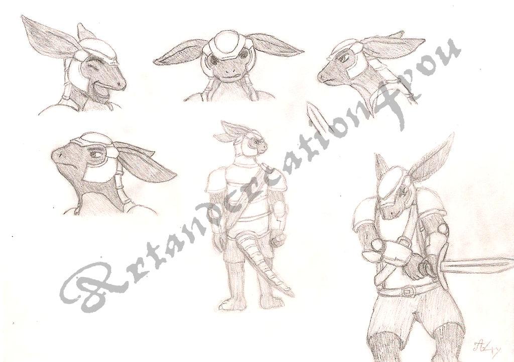 Armadillo Knight - Gallan concept art by Artandcreation4you